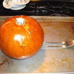 cooked whole pumpkin
