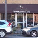 Sacred Grounds sign