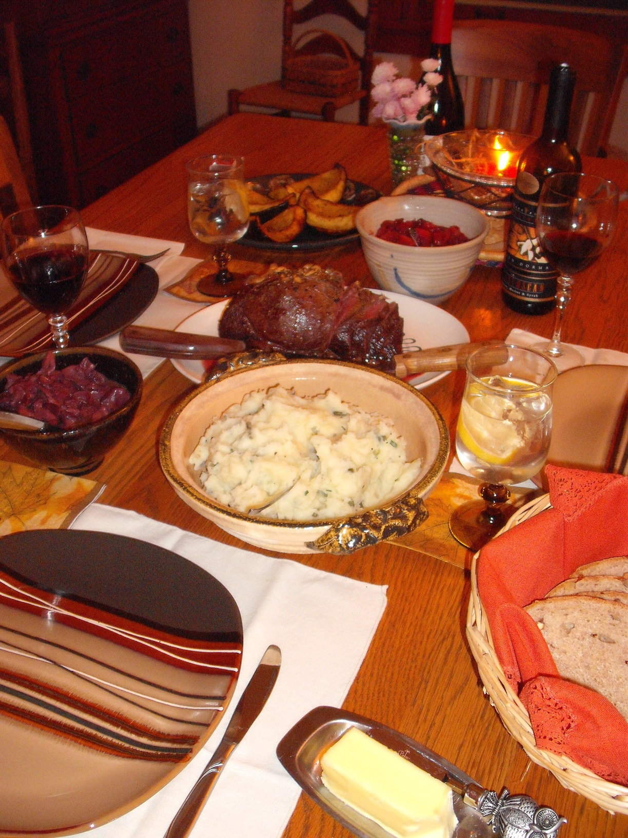 Thanksgiving Ideas, Part One: Sirloin Roast and Cranberry Sauce