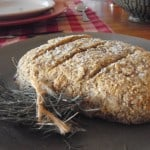 loaf of rustic rosemary-olive bread