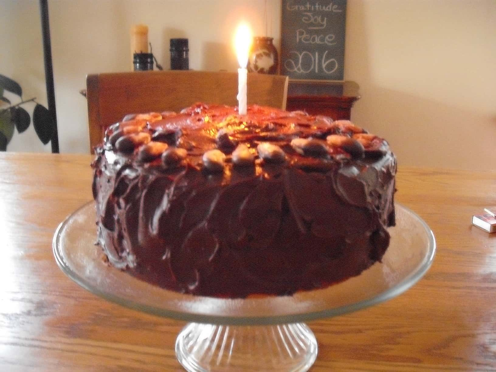 Orange cake with chocolate icing