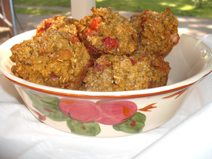 More Love Muffin Magic: Cherry Almond Oatmeal Delights