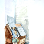 dumpster illustration
