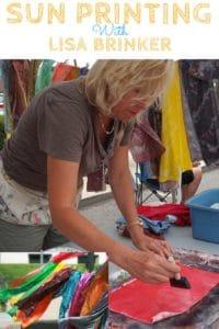 Lisa Brinker demonstrates Sun Printing