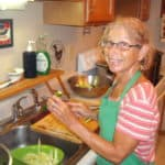 me slicing cucumbers