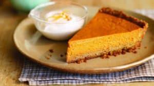 Delicious Living's pumpkin pie with walnut crust