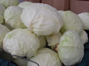 Cabbage at the farmer's market