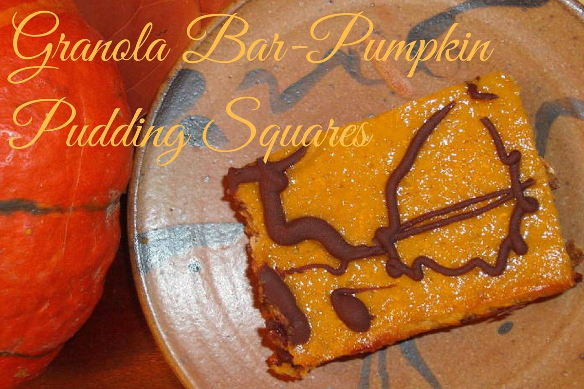 Granola Bar-Pumpkin Pudding Squares
