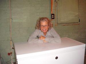 me with my new freezer