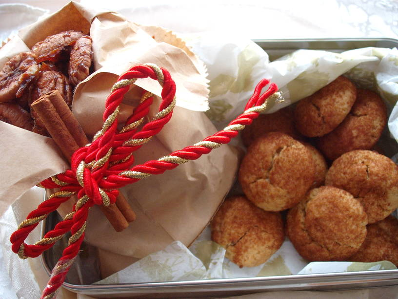 Sweet Hot Nuts and Persimmon Snickerdoodles in tin