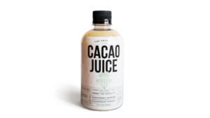 bottle of cacao juice