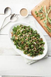Delicious Living image for kale stem salad