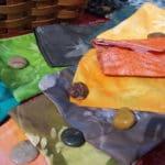 Lisa's pouches with sunprint designs