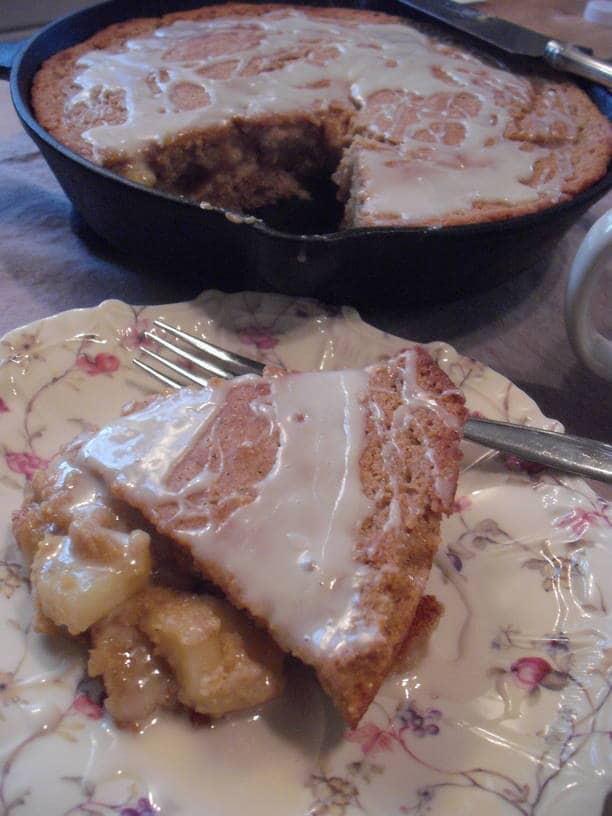 Apple Pie Stuffed Skillet Cornbread