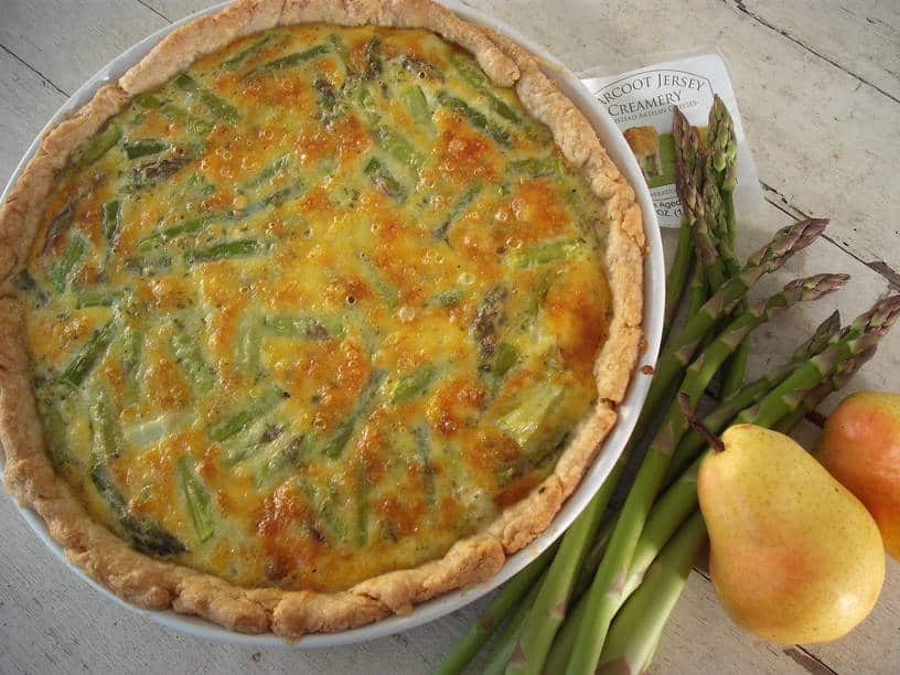 Asparagus Quiche with Caramelized Onions