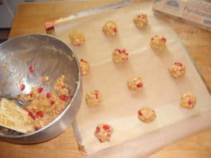 Strawberry Cookie Dough on Sheet