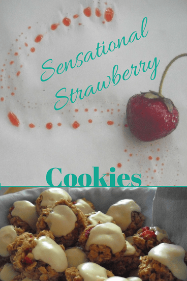 strawberry cookie Pinterest graphic
