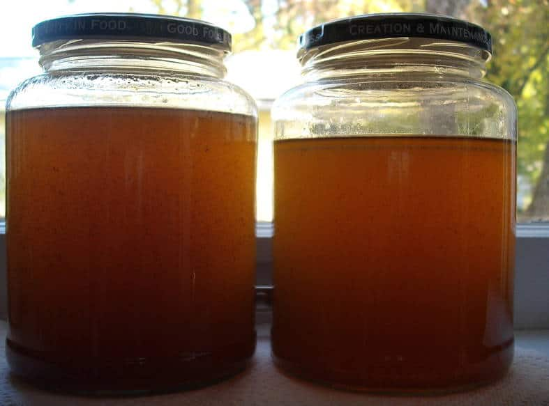 two jars of bone broth