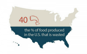 statistic on percentage of food wasted in USA