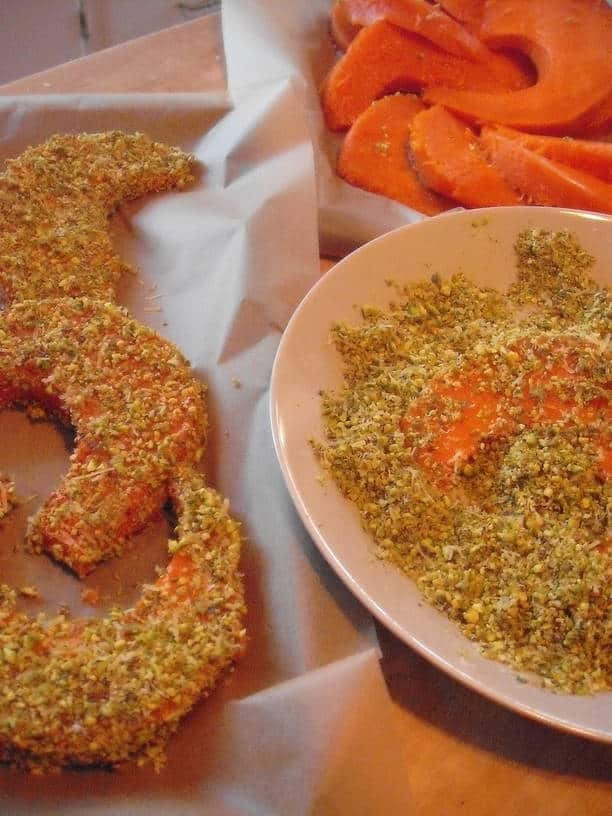 Pistachio-Encrusted Pumpkin Wedges