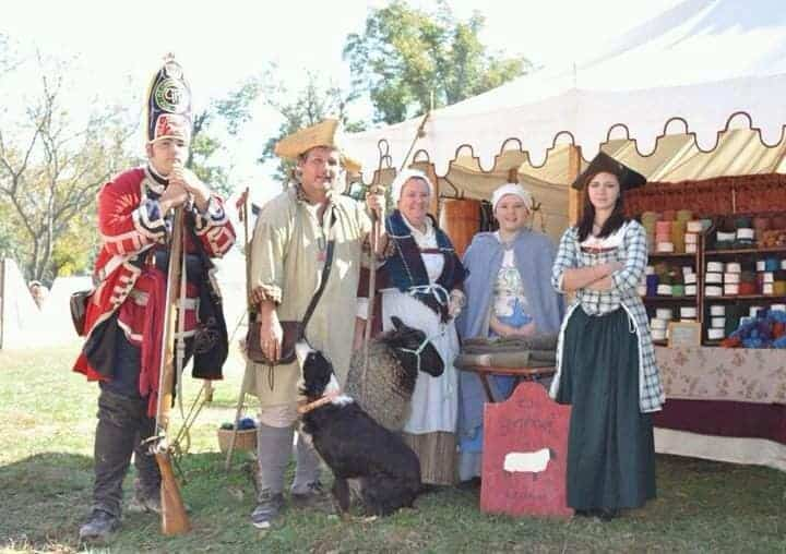 Tracy and Steve Riddle at reenactment event