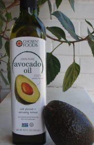 bottle of Chosen Foods Avocado Oil
