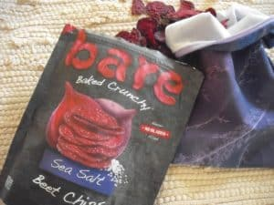 bag of Bare Beet Chips with reusable lunch sack