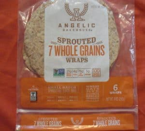 Package of Angelic Bakehouse Sprouted 7 Whole Grains Wraps
