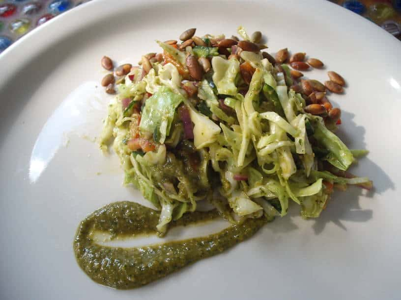 Cabbage with a Kick Salad plated