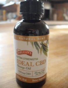 Bottle of Barlean's Extra Strength Ideal CBD Hemp Oil
