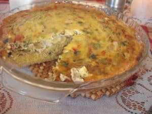 Gluten-free Quiche with Quinoa Crust from Delicious Living Magazine