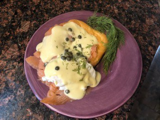 Jane's Eggs Benedict with Smoked Salmon and Yogurt Hollandaise Sauce