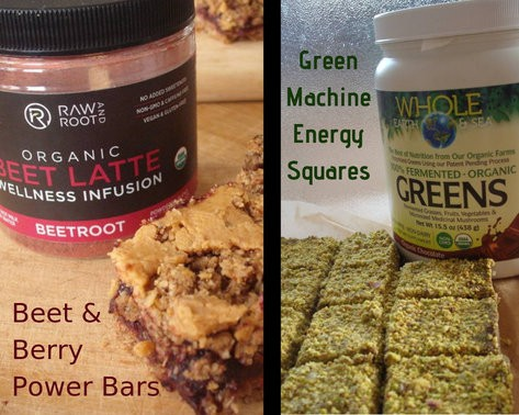 two homemade power bars with blogger box products