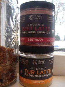 Raw & Root Beet Latte and Tur Latte