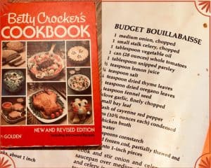 Betty Crocker's Cookbook with recipe page