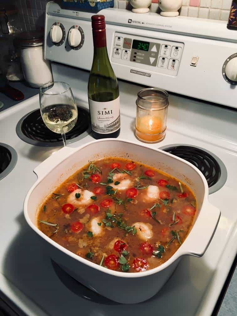 The Betty Crocker's Cookbook Budget Bouillabaisse (as reinterpreted by Teresa Kennedy)