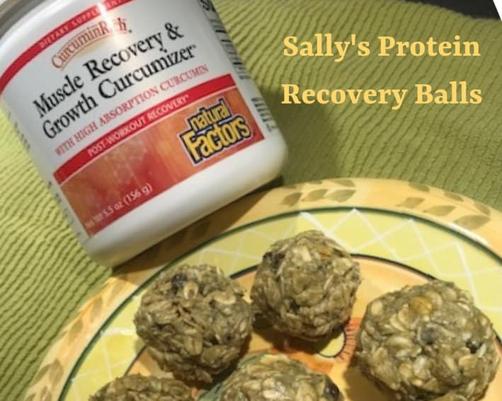 Natural Factors Muscle Recovery Growth Curcumizer with Sally's Protein Recovery Balls
