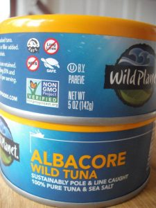 Two cans of Wild Planet Tuna