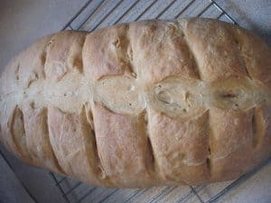 A loaf of basic French bread