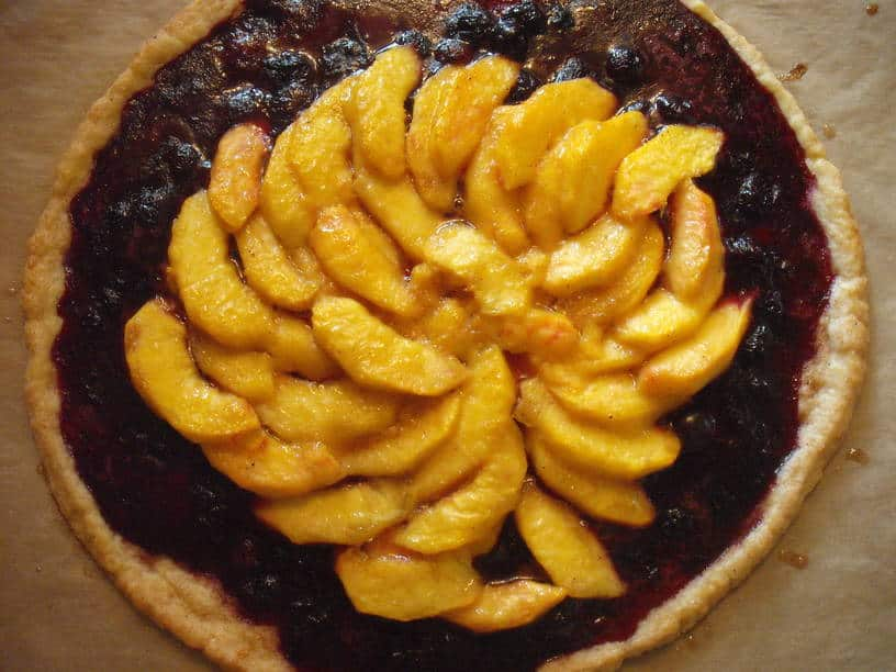 Blueberry & Peach Crostata