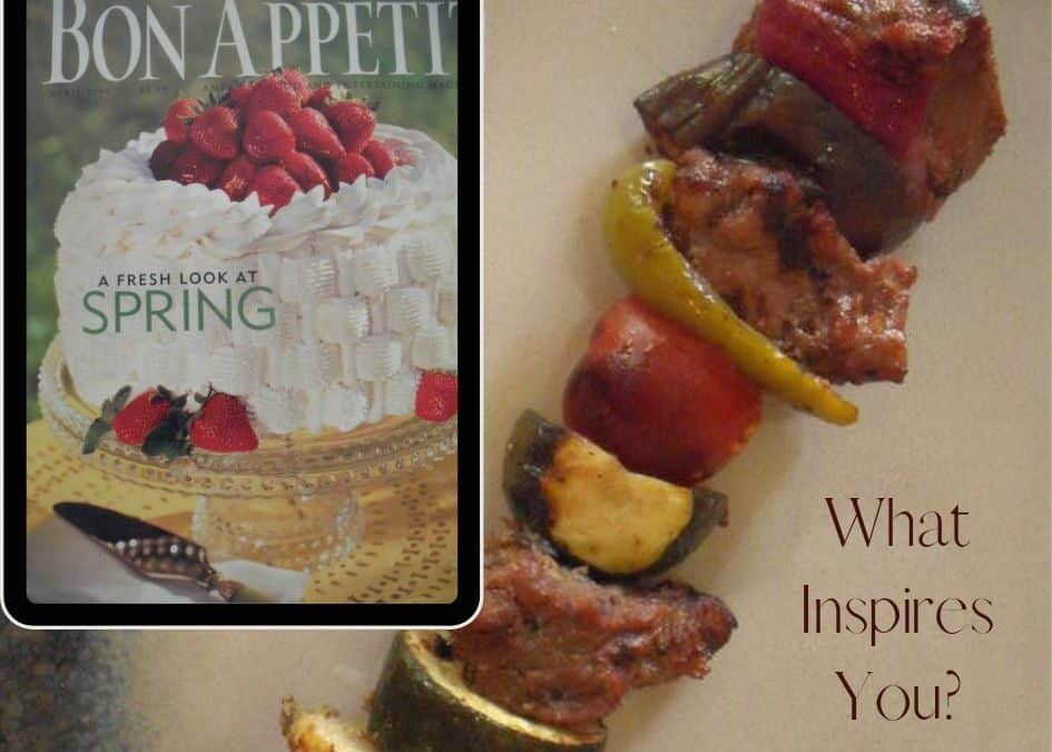 Bon Appetit Cover of April Issue with Lamb Kabob