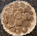 Fancy Decorated Cinnamon Swirl Pie before baking