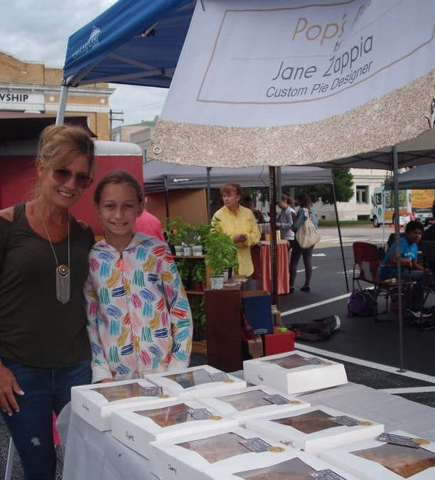 Jane and her daughter Haley at the market