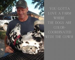 Michael Turley with family dalmation