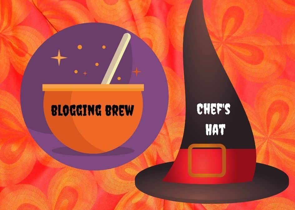 Graphic of a cauldron and a witch's hat