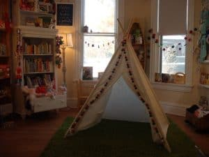 play area at Afterwords Books