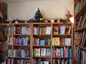 bookshelves at Afterwords Books