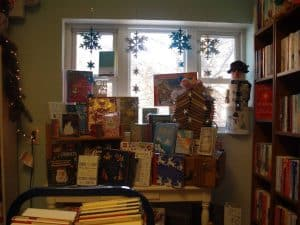 corner window in Afterwords Books