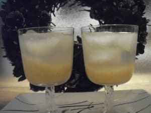 "two ""Pear-fict"" Gin Fizzes"