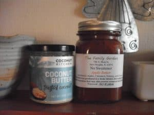 Coconut Kitchen Toasted Coconut Spread and Family Garden No Sweetener Apple Butter